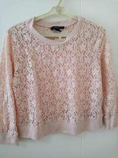 Forever 21 Pink Lace Top