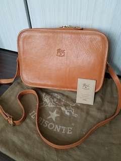 il bisonte shoulder bag (真皮/淺啡蜜糖色) Made in Italy