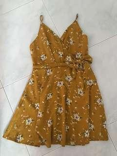 Yellow floral dress (NINTH COLLECTIVE)