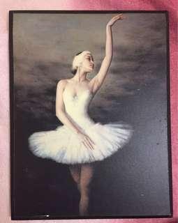 芭蕾舞木刻掛畫