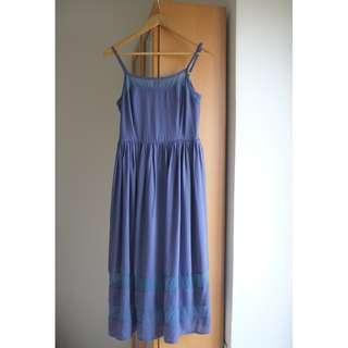 Double Woots Classy Blue Dress