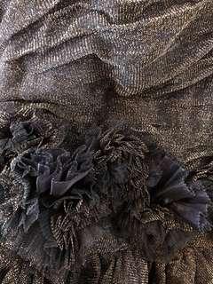 Black gold cocktail dress bridesmaid dress wedding dress rose