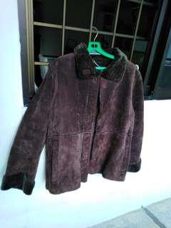 Yessica c&a winter leather coat dark brown for men