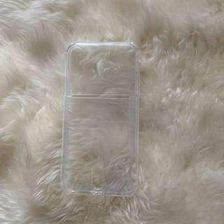 iPhone x/XS transparent phone cover card holder