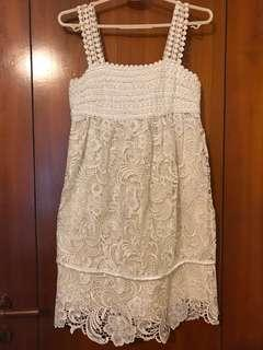 Ivory white Victorian lace dress bridesmaid dress wedding dress