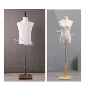 Ready Stocks - Flat Wood Stand Male / Female Mannequins