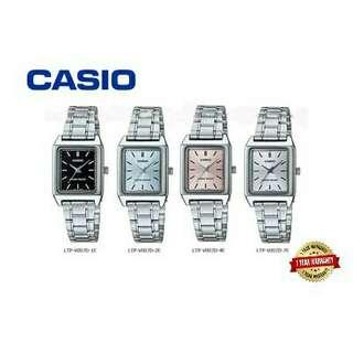 CASIO ORIGINAL LADIES LTP-V007D SERIES SQUARE ANALOG WATCH