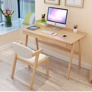 實木書桌簡約家用台式電腦桌臥室學生寫字台現代北歐辦公桌學習桌