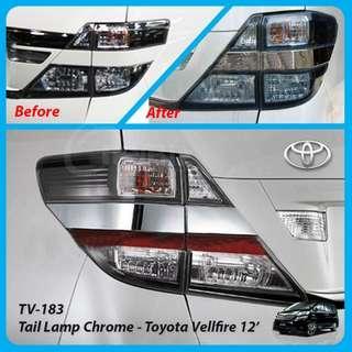 Toyota Vellfire 2008-2012 Tail Lamp Chrome Cover
