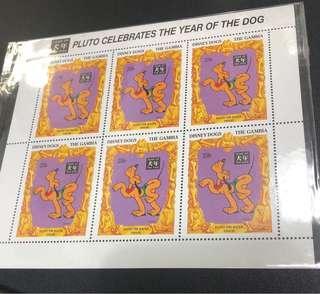 狗年郵票小版