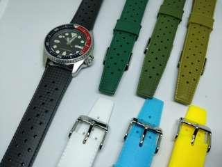 Rubber Dive Watch Strap 20mm Vintage Tropic Style
