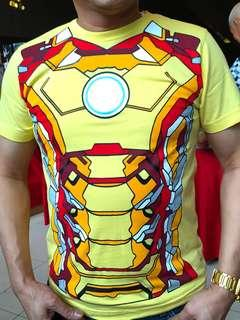 🚚 Iron Man Avenger Costume Cosplay Shirt Glow in the Dark