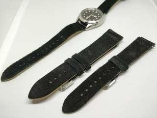 Black Suede Leather Strap 20mm/22mm
