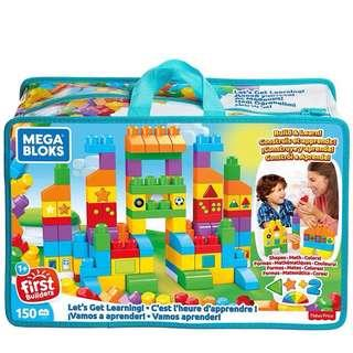Brand New Megabloks Let's Get Learning Building Set 150pcs