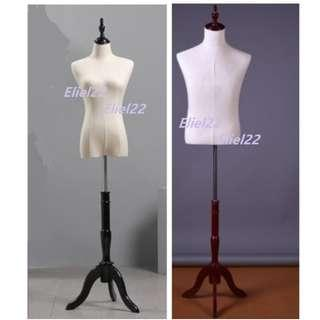 Free Delivery* Ready Stock - Long Wooden Stand Mannequin