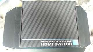 HDMI,分配器,95%新。只插電源試过。有摇控。