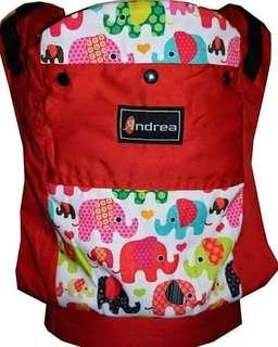 #CLEARANCE [STANDARD] Andrea Baby Carrier - Red Elephants ($60)