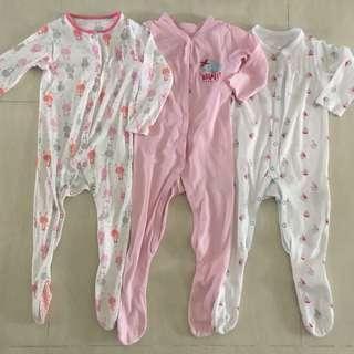 12-18m PL Mothercare Sleepsuits (3pcs)