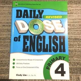 BRAND NEW! Primary 4 Daily Dose of English (latest!) original $17.90! PSLE foundation