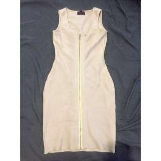 Nude/champagne Bandage Dress Size Small
