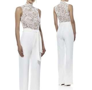 Misha collection lace jumpsuit