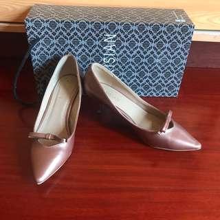 Rosegold Kitten Heel Shoes