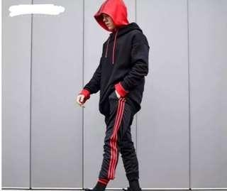 🚚 INSTOCKS red stripes track pants