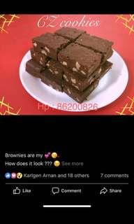 Fudge brownies with premium walnuts