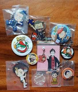 HAIKYUU!! Nishinoya Tanaka Ennoshita bundle