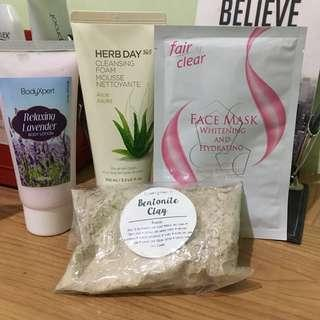 Lotion, Facial Wash, Mask and Clay (Bundle)
