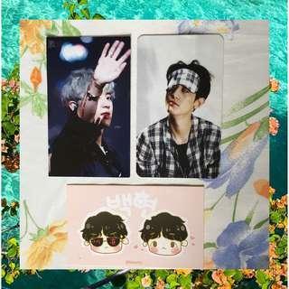 EXO Chanyeol & ChanBaek Unofficial Merch / Photocard