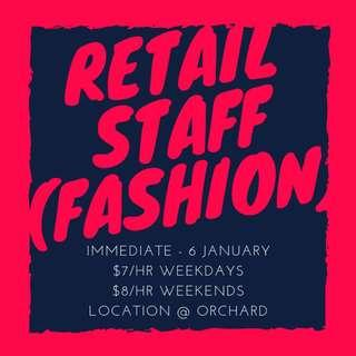 Looking For: Retail Staff (Immediate - 6 January 2019) | Location @ Orchard/Somerset