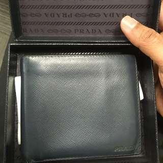 Authentic Prada Bifold Wallet Saffiano Leather