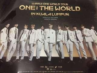 WANNA ONE OFFICIAL WORLD TOUR POSTER IN KUALA LUMPUR