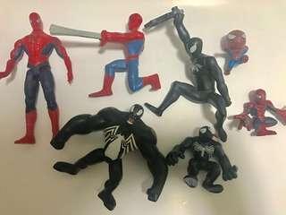 Spider-man Venom toys set lot
