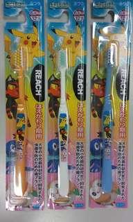 卡比丘 (比卡超) 6~12歲 日本製 兒童牙刷  每支$15