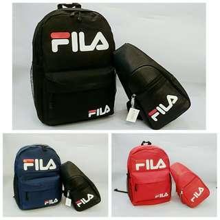 FILA Backpack set with Shoulder bag
