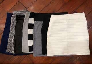 8 skirts for sale