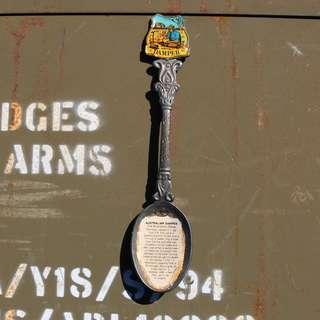澳洲古董銀湯匙 食譜湯匙 DEMPER