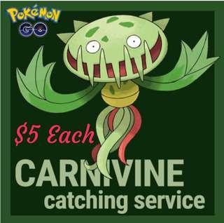 Catch Carnivine Pokemon Go