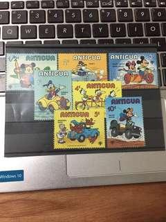 Mickey and friends, Donald and his family Stamps- Antigua