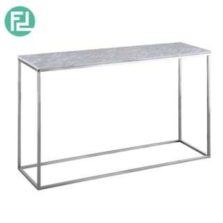 ISABELLE Italian white marble console table with metal legs