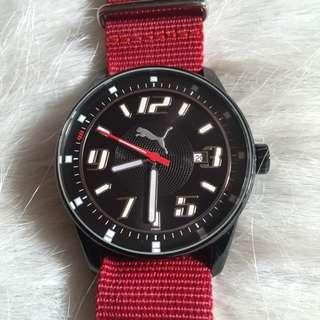 Puma Red Strap Watch