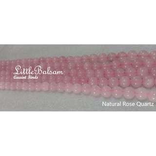 Authentic Natural Rose Quartz Beads 8mm