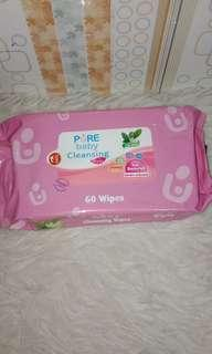 Obral Pure baby cleansing 60 wipes