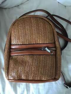 Mini woven backpack