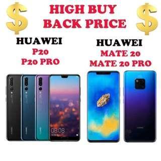 Buy Back Huawei P20 / P20 Pro / Mate20/ Mate20 Pro