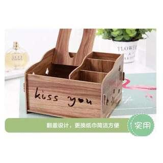 WOOD MAKE UP ORGANIZER