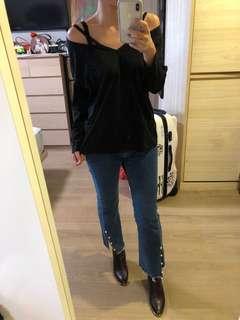 🚚 韓國黑色長袖上衣