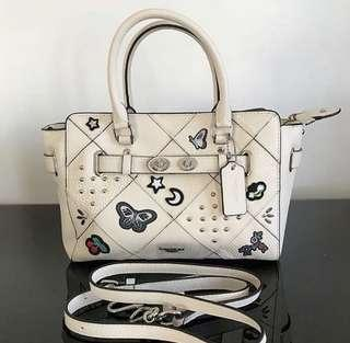 SPECIAL PRICE! Coach swagger with varsity patches -white